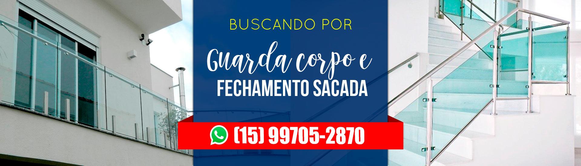 GUARDA CORPO DE VIDRO