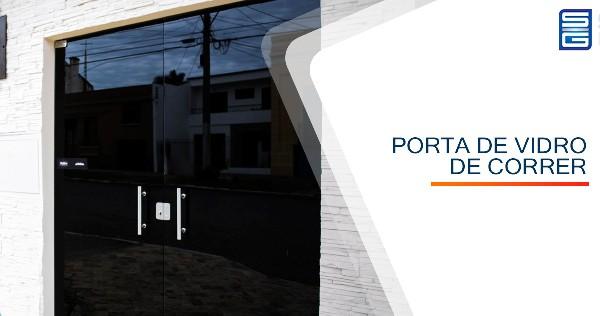 Porta de Vidro Temperado Alcídes Vieira Araçoiaba da Serra